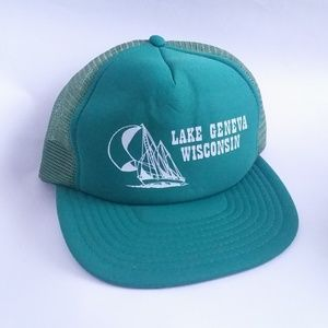 Vintage Cap Lake Geneva Wisconsin Trucker Hat